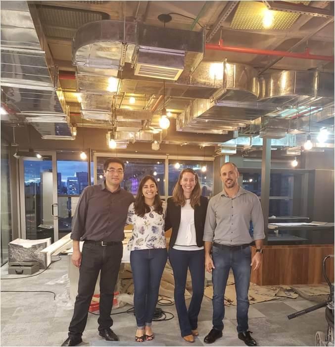 2019 - Eduardo Yamada, Juliana Passoto, Juliana Mendonça e Rafael Lazarrini. Inspeção novo escritório CTE!