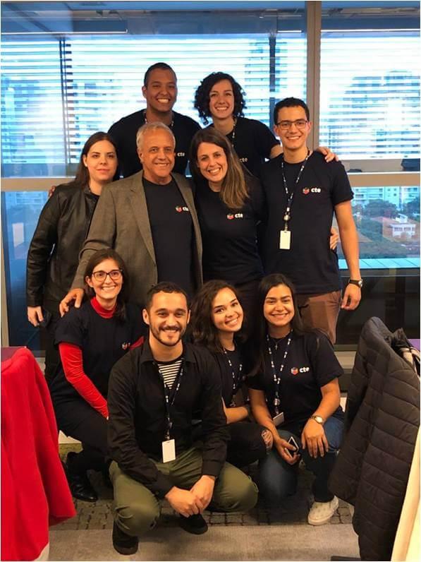 2019 - Parte da equipe de sustentabilidade - Inauguração nova sede de CTE