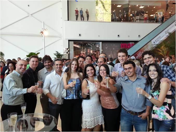 2013 - Time de Gerenciamento e parceiros - Inauguração Boulevard Londrina Shopping