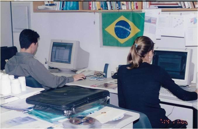 2002 - Equipe Autodoc - Escritório do CTE, na Rua Álvaro Rodrigues
