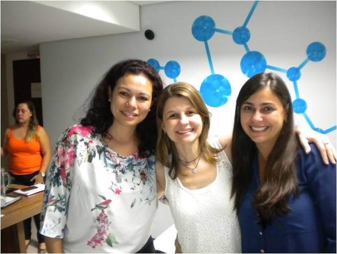 2014 - Márcia Oliveira, Gerente Administrativa Financeira, Luciana Maciel, Juliana Passoto, Coordenadora Gerenciamento - Treinamento Interno